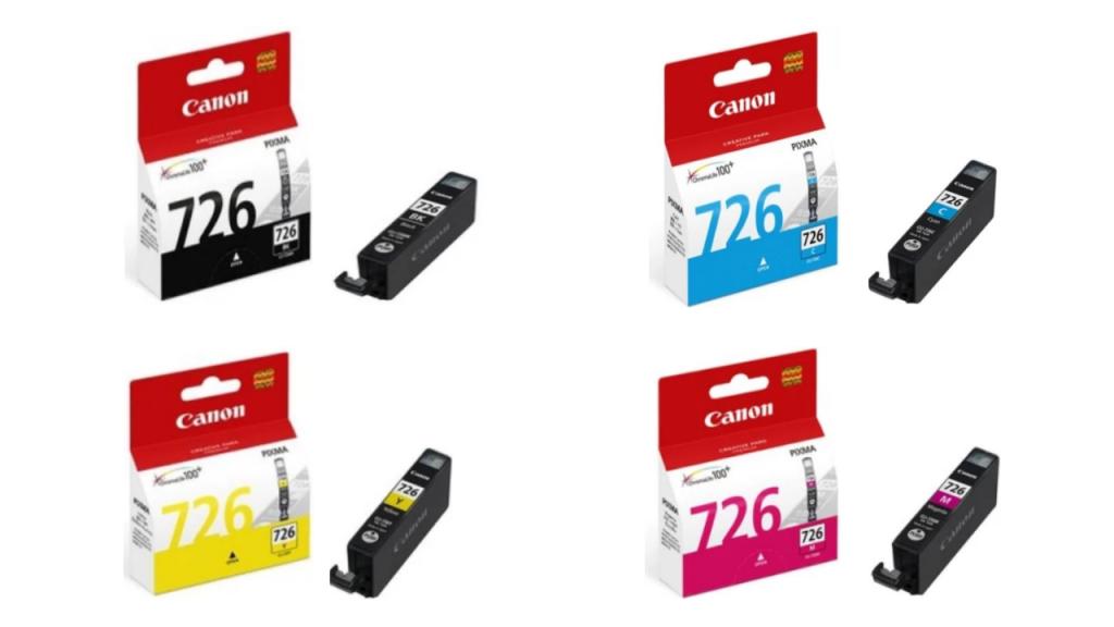Canon CLI-726 Ink Cartridge Bundle (Cyan/Yellow/Magenta/Black) | Wis Ink Trading
